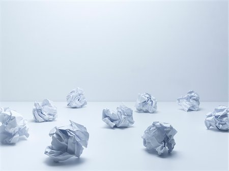 Crumpled balls of paper Stock Photo - Premium Royalty-Free, Code: 635-05551080