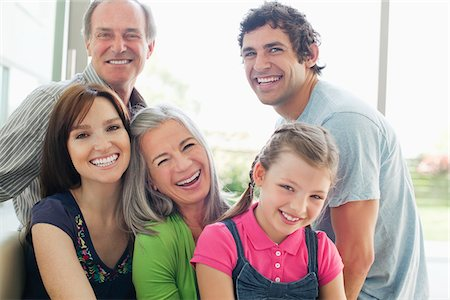Portrait of smiling multi-generation family Stock Photo - Premium Royalty-Free, Code: 635-05656085