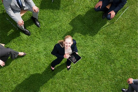 funny pose - Business people having meeting outdoors Stock Photo - Premium Royalty-Free, Code: 635-05651489