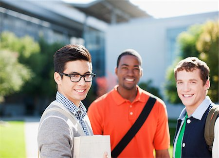 Smiling students standing outdoors Stock Photo - Premium Royalty-Free, Code: 635-05971450