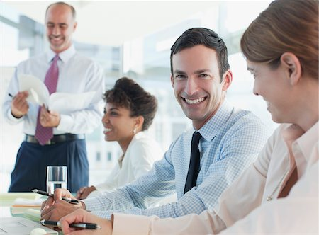 Business people talking in meeting Stock Photo - Premium Royalty-Free, Code: 635-05971890