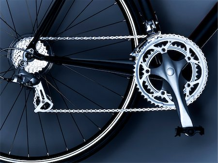 Close up of bicycle chain, pedal and gears Stock Photo - Premium Royalty-Free, Code: 635-05972686