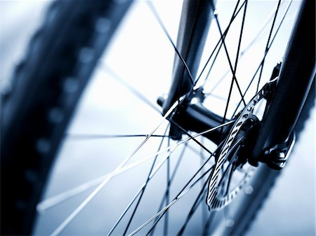 Close up of bicycle wheel Stock Photo - Premium Royalty-Free, Code: 635-05972683