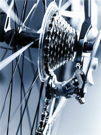 Close up of bicycle gears Stock Photo - Premium Royalty-Free, Code: 635-05972690