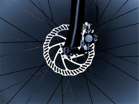 Close up of bicycle wheel Stock Photo - Premium Royalty-Free, Code: 635-05972692