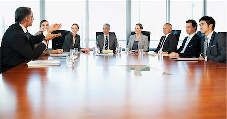 Business people meeting at table in conference room Stock Photo - Premium Royalty-Free, Code: 635-06045031
