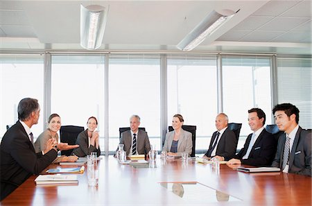 Business people meeting at table in conference room Stock Photo - Premium Royalty-Free, Code: 635-06045070