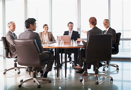 Business people meeting at table in conference room Stock Photo - Premium Royalty-Free, Code: 635-06045080