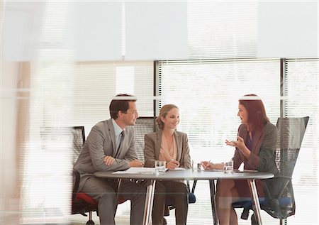 partnership - Business people talking at table in conference room Stock Photo - Premium Royalty-Free, Code: 635-06045140