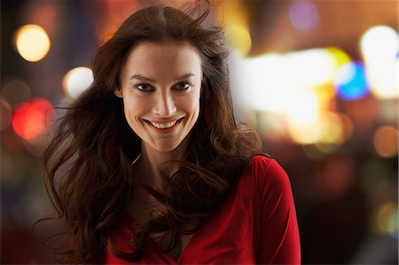 Portrait of smiling woman Stock Photo - Premium Royalty-Free, Code: 635-06045658