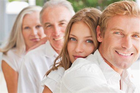 Portrait of smiling family Stock Photo - Premium Royalty-Free, Code: 635-06191505