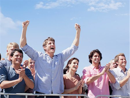 Cheering crowd Stock Photo - Premium Royalty-Free, Code: 635-06191698