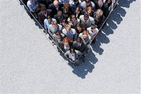 Rope around business people Foto de stock - Sin royalties Premium, Código: 635-06191717