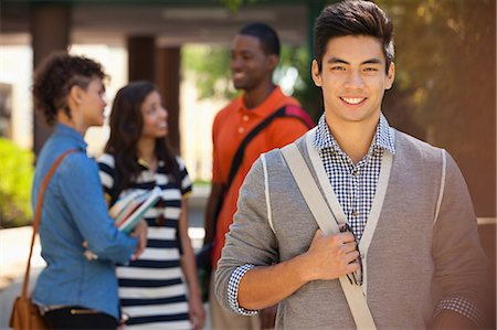 filipino ethnicity - Smiling students Stock Photo - Premium Royalty-Free, Code: 635-07364409