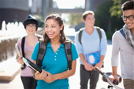 filipino ethnicity - Students walking together outdoors Stock Photo - Premium Royalty-Free, Code: 635-07364607