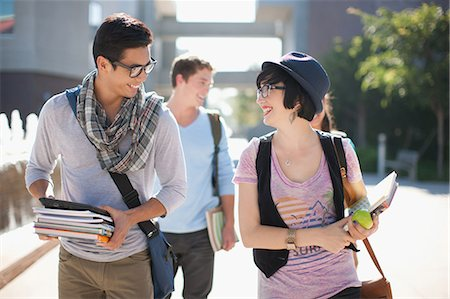 filipino ethnicity - Students walking together outdoors Stock Photo - Premium Royalty-Free, Code: 635-07364601