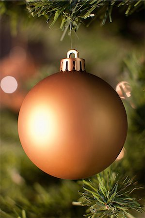 Close up of Christmas ornament on tree Stock Photo - Premium Royalty-Free, Code: 635-07364802