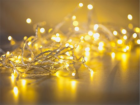 decoration - Pile of illuminated string lights Stock Photo - Premium Royalty-Free, Code: 635-07364827