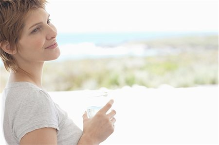 drinking water glass - Pregnant woman drinking water Stock Photo - Premium Royalty-Free, Code: 635-07762858