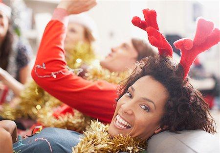 People enjoying Christmas party Stock Photo - Premium Royalty-Free, Code: 635-02614684