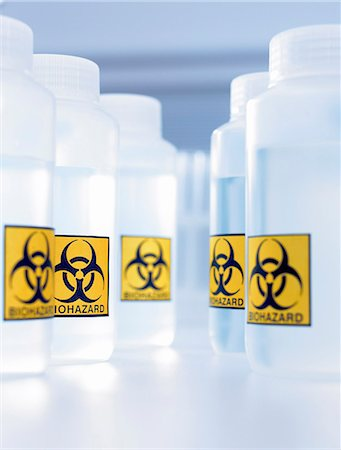 poison - Bottles with biohazard labels Stock Photo - Premium Royalty-Free, Code: 635-03229108