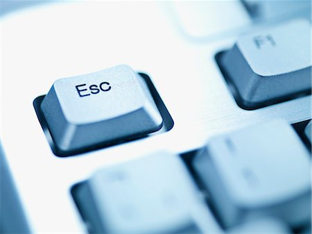 Computer keyboard escape key Stock Photo - Premium Royalty-Free, Code: 635-03372869