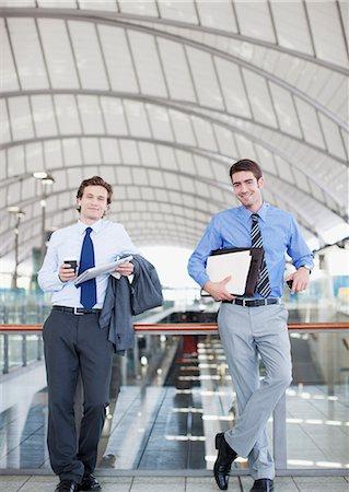 platform - Businessmen waiting in train station Stock Photo - Premium Royalty-Free, Code: 635-03515574