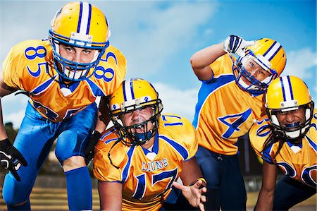 football team - Intimidating football players Stock Photo - Premium Royalty-Free, Code: 635-03515720