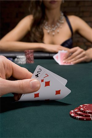 Close up of cards in casino Stock Photo - Premium Royalty-Free, Code: 635-03515946