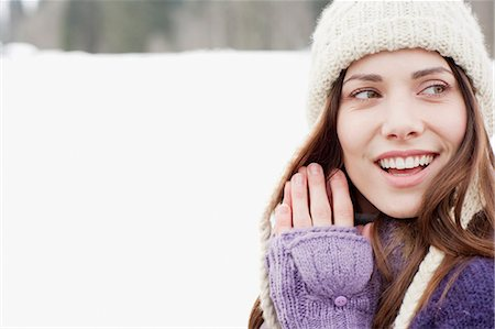 Woman outdoors in snow Stock Photo - Premium Royalty-Free, Code: 635-03516065