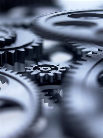 Close up of metal cogs Stock Photo - Premium Royalty-Free, Code: 635-03577969