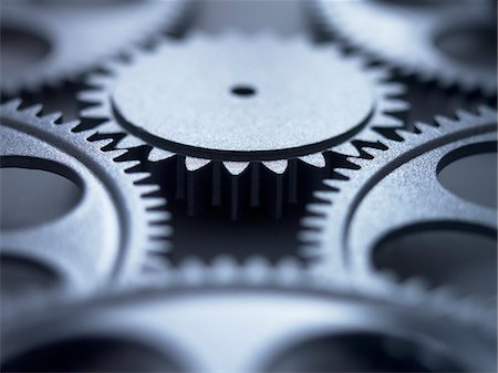Close up of metal cogs Stock Photo - Premium Royalty-Free, Code: 635-03577970