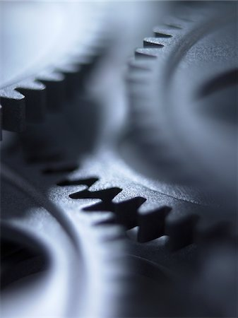 repeating - Close up of metal cogs Stock Photo - Premium Royalty-Free, Code: 635-03577971