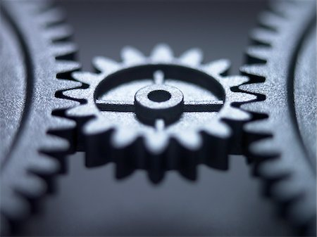 Close up of metal cogs Stock Photo - Premium Royalty-Free, Code: 635-03577973