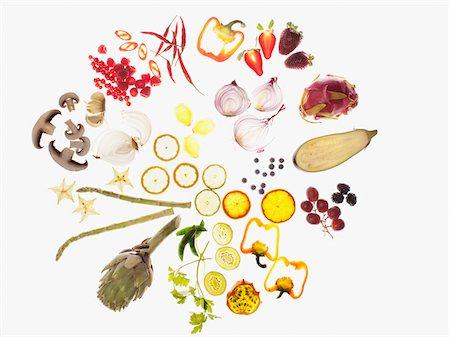 fungus - Variety of sliced vegetables Stock Photo - Premium Royalty-Free, Code: 635-03641677