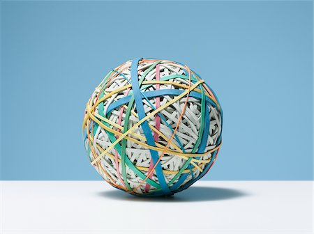 Close up of rubber band ball Stock Photo - Premium Royalty-Free, Code: 635-03716307