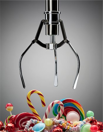 Hook above variety of sweet candies Stock Photo - Premium Royalty-Free, Code: 635-03752886