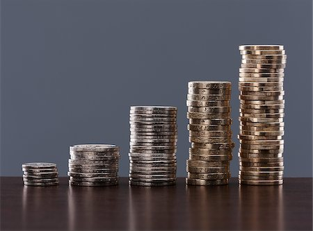 Various stacks of coins Stock Photo - Premium Royalty-Free, Code: 635-03752891
