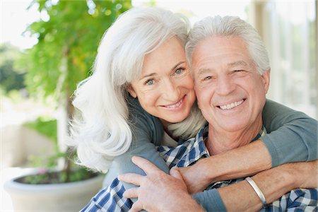 Senior couple hugging Stock Photo - Premium Royalty-Free, Code: 635-03859811