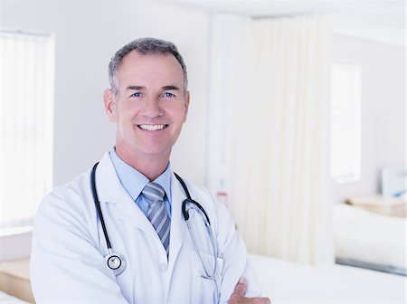 Portrait of doctor in hospital Stock Photo - Premium Royalty-Free, Code: 635-03860042