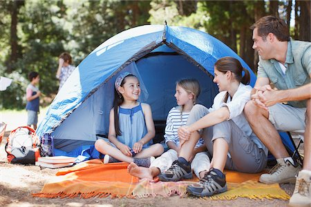 Family camping Stock Photo - Premium Royalty-Free, Code: 635-03860190