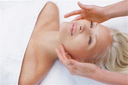 facial - Woman enjoying facial Stock Photo - Premium Royalty-Free, Code: 635-03860304