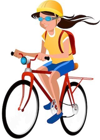 Woman mountain biking Stock Photo - Premium Royalty-Free, Code: 630-06724028