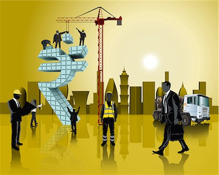 Business people building Indian currency symbol Stock Photo - Premium Royalty-Free, Code: 630-06724072