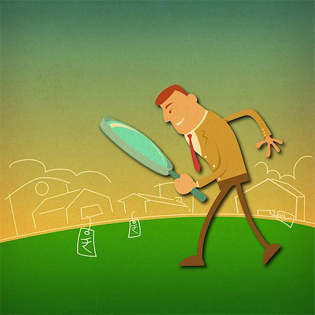 Businessman searching home Stock Photo - Premium Royalty-Free, Code: 630-06724149