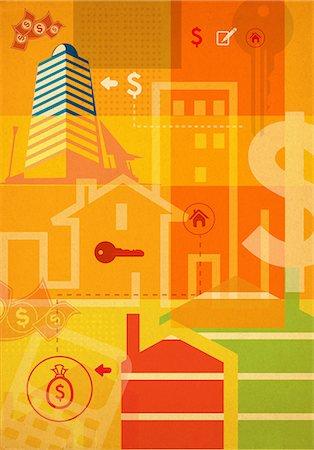 Illustrative representation showing home finances Stock Photo - Premium Royalty-Free, Code: 630-06724272
