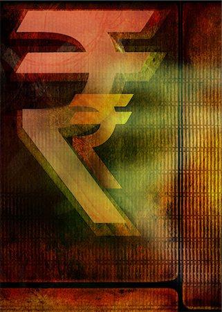 Close-up of Indian rupee symbols Stock Photo - Premium Royalty-Free, Code: 630-06724357
