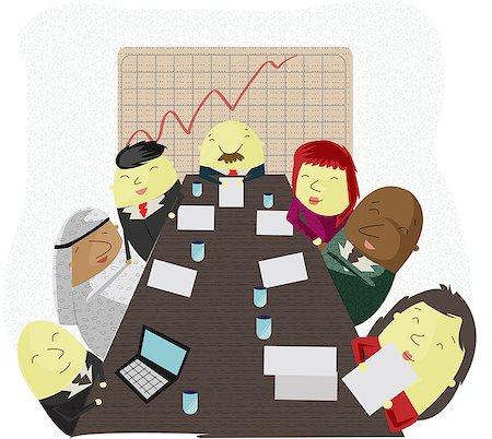 Global board of directors having a meeting Stock Photo - Premium Royalty-Free, Code: 630-06724373