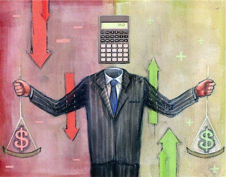 Businessman calculating money Stock Photo - Premium Royalty-Free, Code: 630-06724388