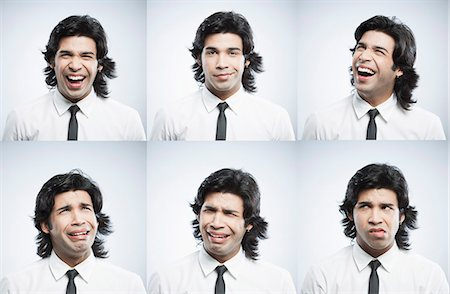 east indian (male) - Multiple images of a businessman with different facial expressions Stock Photo - Premium Royalty-Free, Code: 630-06724710